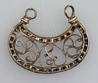 RRR! Viking silver guilded filigree pendant 1000 AD!