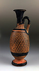 Ancient Greek Apulian Pottery Net Lekythos - 350 B.C.