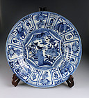 Rare large size China Ming Dynasty Wanli plate, 32 cm!