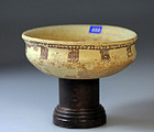 Rare Asian Near East Greco-Persian omphalos pottery offer bowl!