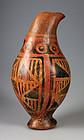 Rare Pre Columbian Carchi pottery zomorphic vessel!