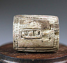 Rare large Egyptian scaboid stamp seal - Thutmose III
