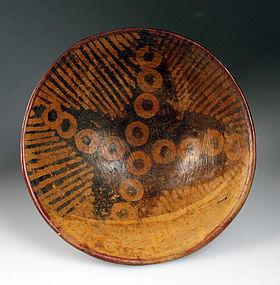 Large Pre-columbian Narino pottery pedestal bowl #3