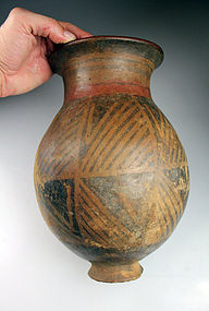 Very large Pre-columbian Narino painted pottery vessel!