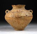 Ancient Near Eastern pottery jar, 3rd. millenium BC