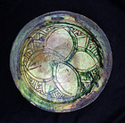 Rare Islamic Ghaznavid pottery dish, Bamiyan, 11th.-12th. c. AD