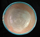 Islamic bowl with Torquise and cream glace, 11th. century