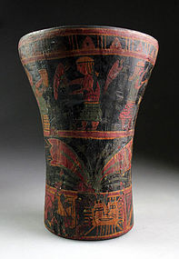 Largest ever Peruvian wooden kero cup or beaker, Inca!