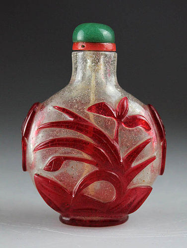 19th Century Chinese Peking Glass Snuff Bottle!