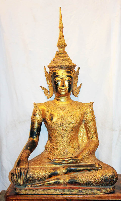 A Lifesize Thai bronze Buddha, Bangkok period, late 19th. century