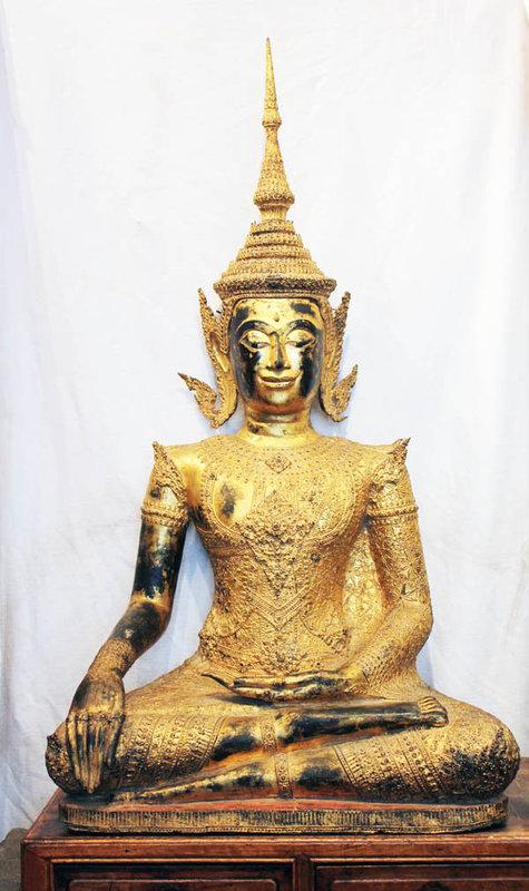 A Lifesize Thai bronze Buddha, Bangkok period, late 19th. century