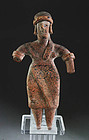 Exceptional Colima Mexico pottery figurine, 100 B.C. - 500 A.D.