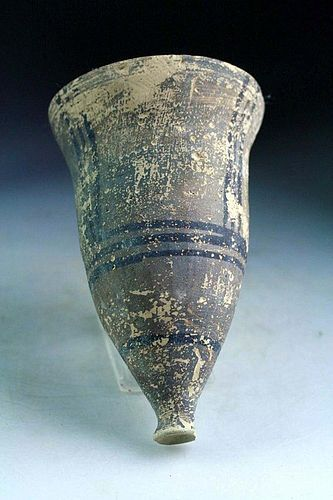 Large ancient Bactrian pottery Chalice or goblet early 2nd. mill. BC