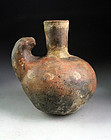 Early Pre-columbian Peru Vicus - Inca pottery vessel w sealion!