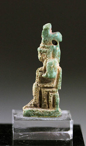 Egypt Faience amulet of Isis, Late Period, c. 664 - 30 B.C.