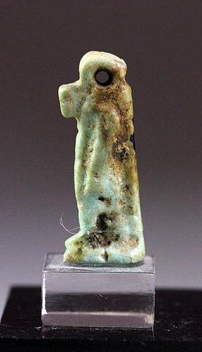 Nice Egypt faiance amulet of a Thoeris, Ex. Haeberlin