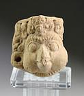 Rare pottery head of a bird head Deity, Majapahit, 11th.-13th. AD