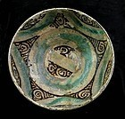 A choice and larger Islamic pottery bowl, Western Asia 1100-1300