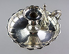 Superb massive English Sterling silver chamberstick, london 1834!