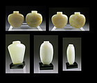 Selection of 4 Chinese Jade Bottles in fine Celadon Nephrite!