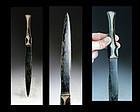 Large & superb Luristan Western Asia bronzeage bronze dagger!