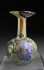 Large Roman Glass vessel w. fantastic iridescence!