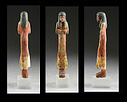 Rare Egyptian wooden Ushabti with hieroglyphs 20.-21. dynasty