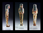 Rare Egyptian wooden Reis Ushabti with hieroglyphs 20.-21. dynasty