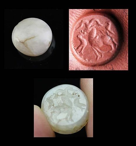 Choice Persian Agate Stamp seal, 1st. mill. BC!