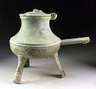 Superb Dong Son culture bronze tripod vessel, Han period!