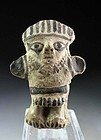 Pre-Columbian Standing Pottery Figure, Chancay, Peru