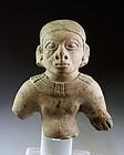 Wonderful Pre-columbian pottery figure from La Tolita-Tumaco, 200 BC
