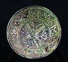 Rare Islamic Ghaznavid pottery bowl, Bamiyan, 11th.-12th. c. AD
