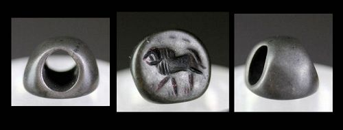Scarce Sassanian Stamp Seal in solid silver, 3th.-5th. century AD!