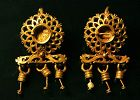 Pair of highly elaborate Roman Gold earrings, ca. 3rd Century A.D
