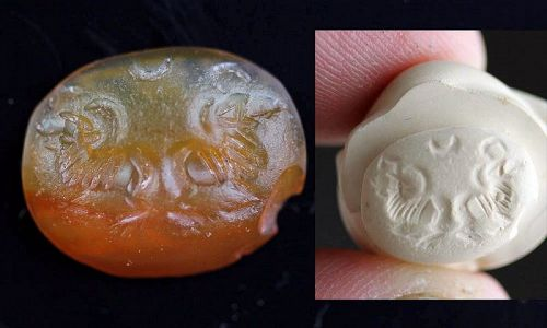 Sassanian Carnelian Seal Intaglio, Early, 3rd.-4th. cent. AD