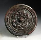 High Quality large silvered Chinese Tang Dynasty bronze mirror!