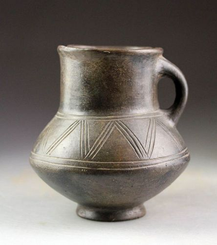 Ancient Amlash Grey-brown ware pottery Jug, ca. 1200-1000 BC