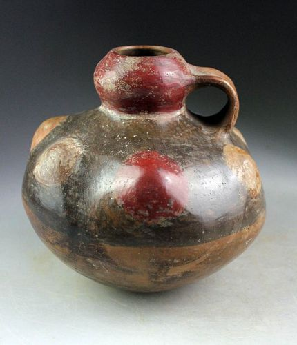 Very attractive Larger pre-Columbian vessel with handle - Peru?