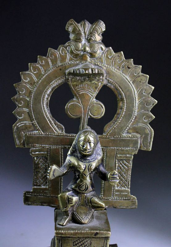 Rare South Indian Hindu bronze figure or Shine, 18th. century