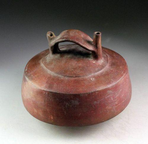 Large Pre-Columbian Vicús (Moche) pottery Stirrup vessel!
