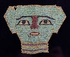 Elegant ancient Egyptian Mummy Bead mask, late period 600 BC