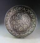 Rare large Persian / Indo-Persian Islamic silver bowl, c. 18th. cent