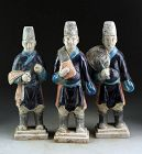 Choice set of three Chinese tomb pottery figures, Ming Dynasty!