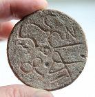 Syro-Hittite pottery disc w Luwian text, c. 2nd. millenium BC