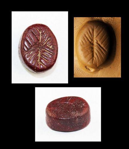 Rare Ironage Levantine Jasper Scaraboid seal, 1st. mill. BC