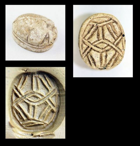 Egyptian Steatite Scarab, 2nd. intermediate period, 1750-1570