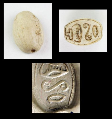 Fine condition Egypt scarab with Hieroglyphs, 2nd. mill.BC