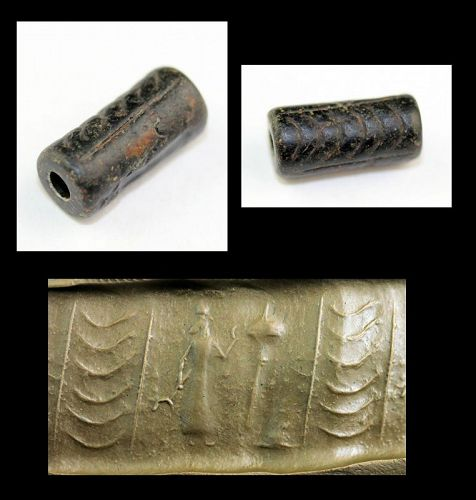 Rare Neo-Babylonian Cylinder seal of the great King!