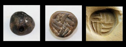 Scarce Anatolian seal with Swastika, ca. 4th.-3rd. mill. BC